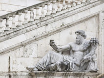 Nile Statue. Ancient Roman allegory of Nile River. Campidoglio, Rome, Italy Royalty Free Stock Photography