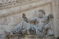 Nile Statue in Rome, Italië Stock Foto