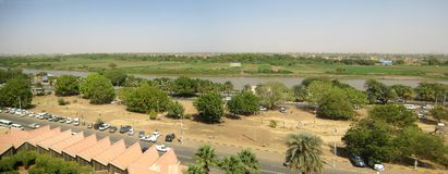 Nile in Sudan stock images