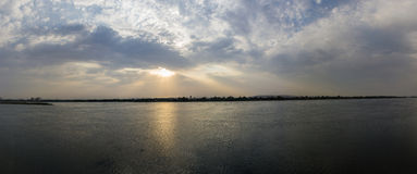 Nile sun set Royalty Free Stock Image