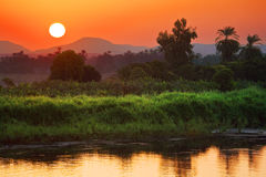 The Nile sunrise scenery royalty free stock photography
