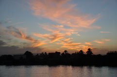 The Nile at sunset,Egypt Royalty Free Stock Photo