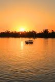 Nile sunset Royalty Free Stock Image