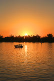 Nile sunset Royalty Free Stock Images