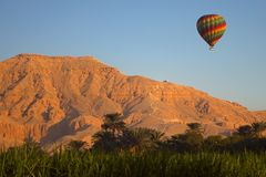 Nile Valley Balloon Stock Photo