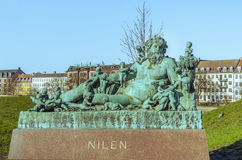 Nilen雕象在哥本哈根 免版税图库摄影