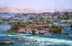 Nilen Aswan Fotografering för Bildbyråer