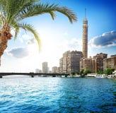 Nilen i Kairo Arkivbilder