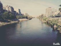 Nilen på Egypten Fotografering för Bildbyråer