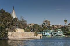 Nileometeren på Kairo Royaltyfria Foton