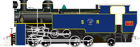 Nilgiri山铁路X类蒸汽机车 免版税库存照片