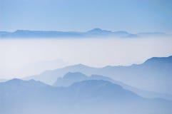 Nilgiri Blue Mountains. Nilgiri Mountains view from Doddabetta view point 2623 mt asl Royalty Free Stock Photography