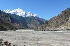 Nilgiri and Kali Gandaki river valley, Nepal Stock Image