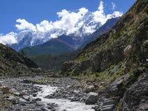 Nilgiri from Kali Gandaki river valley, Nepal Stock Images