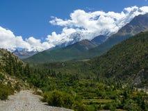 Nilgiri from Kali Gandaki river valley, Nepal Stock Photography