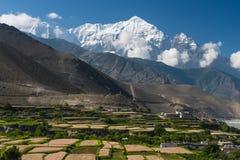 Free Nilgiri Mountain Peak Behind Kagbeni Village In Upper Mustang, Himalaya Mountain Range In Nepal Stock Photo - 178133460
