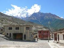 Nilgiri view from Thinigaon, Nepal Stock Image