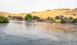 Nilo do rio em Egito fotografia de stock royalty free