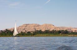 Nilo Felucca Fotografia Stock
