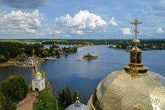 Nilo-Stolobenskii Monastery,Russia, lake Seliger Royalty Free Stock Photo