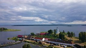 Nilo-Stolobensky monastery. Nilo-Stolobensky monastery is located in Tver region, on lake Seliger, Russia royalty free stock image
