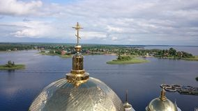 Nilo-Stolobensky monastery. Nilo-Stolobensky monastery is located in Tver region, on lake Seliger, Russia stock image