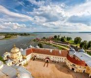 Nilov-Kloster, See Seliger, Tver-Region, Russland Lizenzfreie Stockfotos
