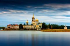 Nilov-Kloster, Stolobny-Insel im See Seliger, Tver-Region, Russland Stockfoto