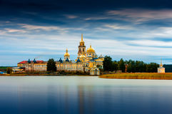 Nilov Monastery, Stolobny Island in Lake Seliger, Tver region, Russia. Stock Photo