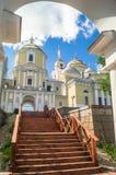 Nilov Monastery on the Stolobny island, Tver region. View from the Archbishop`s Wharf. Royalty Free Stock Image