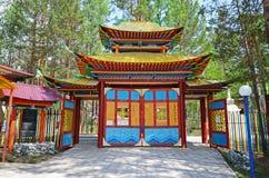 Nilova Pustyn, Russia - June, 11 2016: Gate to Burhan baabay - Buddhist datsan in Nilova Pustyn Stock Images
