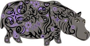 Nilpferd, zu den hypostalemates, Tier Stockbild