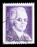 Nils Gustav Dalen (fysik), serie 1912, cir för Nobelprisvinnare Royaltyfri Fotografi
