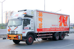 Nim被冷藏的容器卡车看见Seng 图库摄影