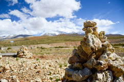 Nima heap on the plateau of Tibet Stock Photos