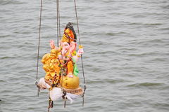 Nimajjan de Lord Ganesh, Índia Fotos de Stock Royalty Free