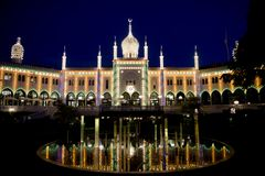 Nimb Palace illuminated Royalty Free Stock Photo