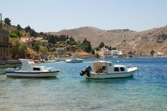 Nimborios, Symi island Stock Photos