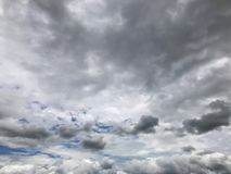 Nimbus Clouds ,Dark Ominous Sky Stock Images
