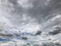 Nimbus clouds ,Dark Ominous Sky. Backgruond stock images