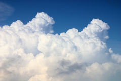 Nimbus in Cloudscape. With blue sky Stock Photos