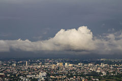 Nimbus over the city Stock Photo