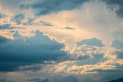 Nimbus or Rain clouds forming in the sky Royalty Free Stock Photography