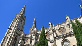 Nimes Cathedral. Cathedral found in the historic city of Nimes, France Stock Image