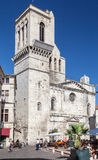 Nimes Cathedral Provence France Stock Image