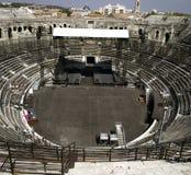 Nimes: Il amphitheater romano immagini stock libere da diritti