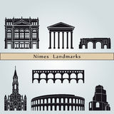 Nimes landmarks and monuments Royalty Free Stock Images