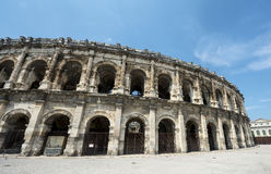 Nimes, Les Arenes. Nimes (Gard, Languedoc-Roussillon, France), Les Arenes, Roman Amphitheatre Royalty Free Stock Photography