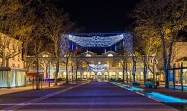 Nimes railway station building - France, Languedoc-Roussillon Royalty Free Stock Image