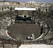 Nimes: The Roman amphitheater Royalty Free Stock Images